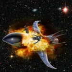 Exploding spaceship by Abinosys 150x150